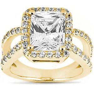 2-01-carat-RADIANT-cut-DIAMOND-WEDDING-Halo-ENGAGEMENT-14K-Yellow-Gold-RING