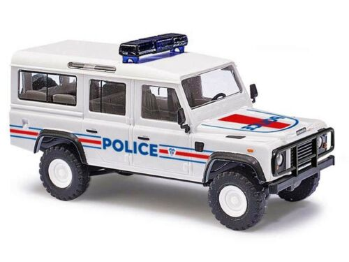 Busch 50366 h0 auto LANDROVER DEFENDER polizia Francia