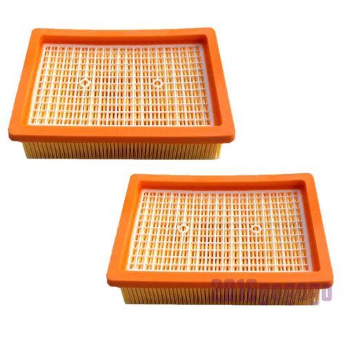 2x Flachfaltenfilter für Kärcher MV4 MV5 MV6 WD4 WD5 WD6 Staubsauger 2.863-005.0