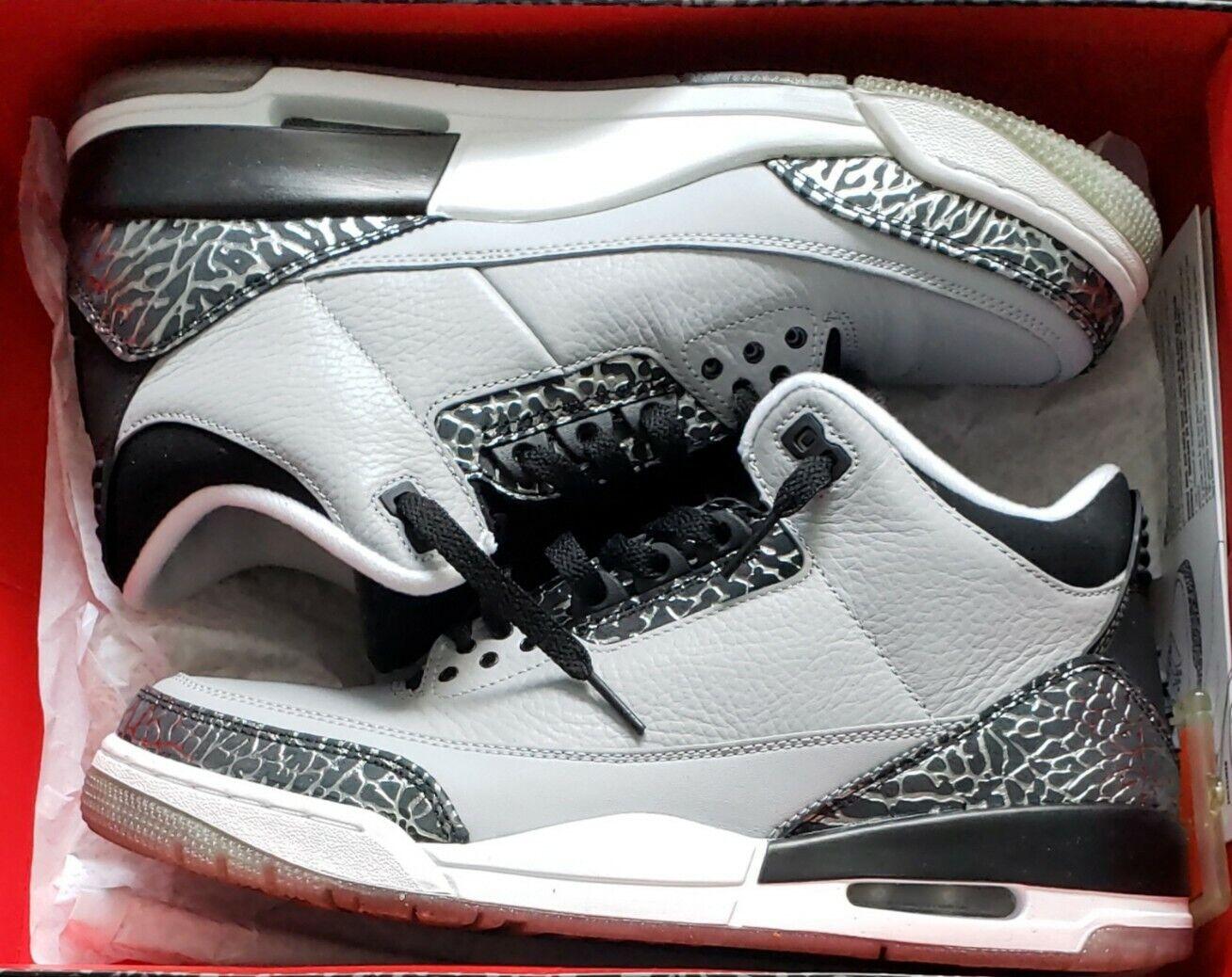 Air Jordan 3 Retro Wolf Grey size 10.5 Mens