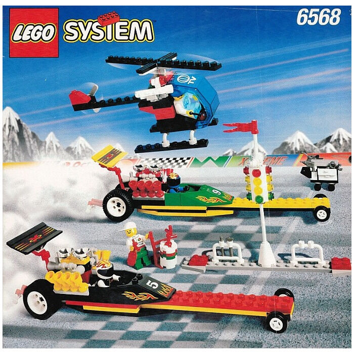 LEGO SET 6568 - DRAG RACE RALLY (EXTREME TEAM), BECOMING RARE, Almost complete