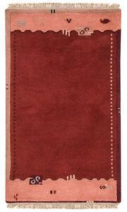 Nepal-Tapis-Tapis-en-laine-142-x-76-cm-rouge-orange-NOUE-A-LA-MAIN-LAINE-54