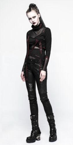 Bi Punk Voilage Top Liens Gothique Lolita Haut R Rivets matière Sangles Punkrave IIqg7