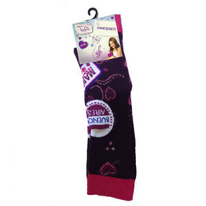 VIOLETTA calzini lunghi viola in cotone da bambina