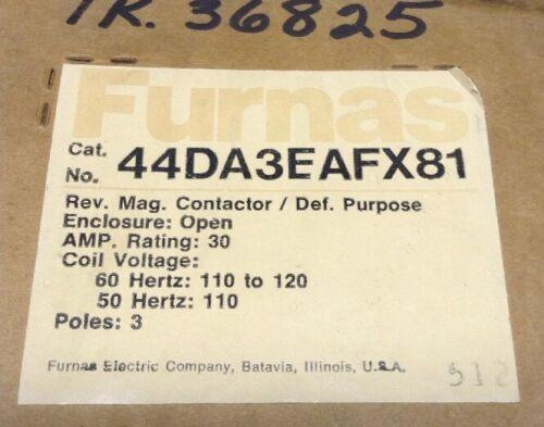 Siemens Furnas 44DA3EAFX81 Magnetic Definite Purpose Contactor 3 Pole 120V