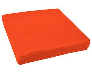 pe215t-Bright-Orange-Faux-Leather-Classic-Pattern-3D-Box-Seat-Cushion-Cover