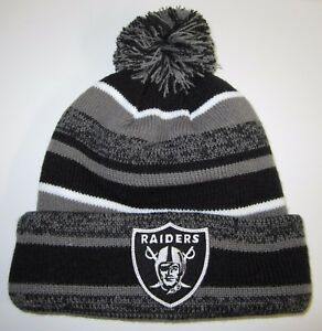 c25fd098163 Oakland Raiders New Era Beanies ~Knit Hat~Classic NFL Patch Logo ...