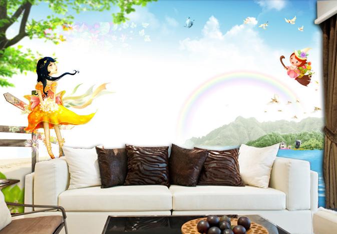 3D Heaven Fairy 784 Wall Paper Murals Wall Print Wall Wallpaper Mural AU Kyra