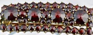 Beautiful-Antique-19th-Century-Victorian-Bohemian-Rose-Cut-Garnet-Brooch