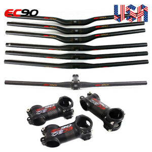 EC90-31-8-25-4mm-MTB-Carbon-Fiber-Flat-Riser-Bar-60-120mm-1-1-8-034-Handlebar-Stem
