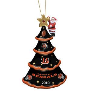 2010-Annual-Cincinnati-Bengals-Christmas-Tree-Ornament-Danbury-Mint-NEW