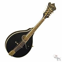 Washburn M1sdl Black A-style Body Solid Spruce Top Gold Tuners Mandolin M1sdlb