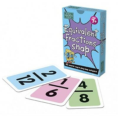 Equivalent Fractions Snap & Pairs Card Games for Children Numeracy Resource g27