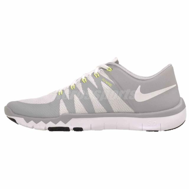 8f6f0b42baca Nike Trainer 5.0 V6 Men s Running Shoes 719922-100 White Grey Silver ...