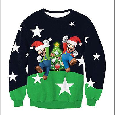 Chrismas Women Jumper Hoodie Sweatshirt Hooded Sweater Pullover Outwear Knitted