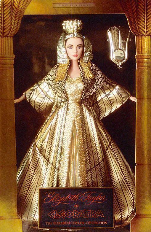 Elizabeth Taylor Colector Muñeca Barbie Película Reina Cleopatra Nuevo Vestido De oro Nuevo en Caja