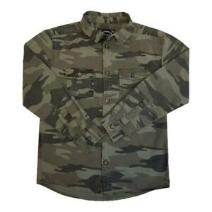 Boys-Camouflage-Shirt-Long-Sleeve-Collar-Ages-8-to-14-years-Cotton-Brand-NEW