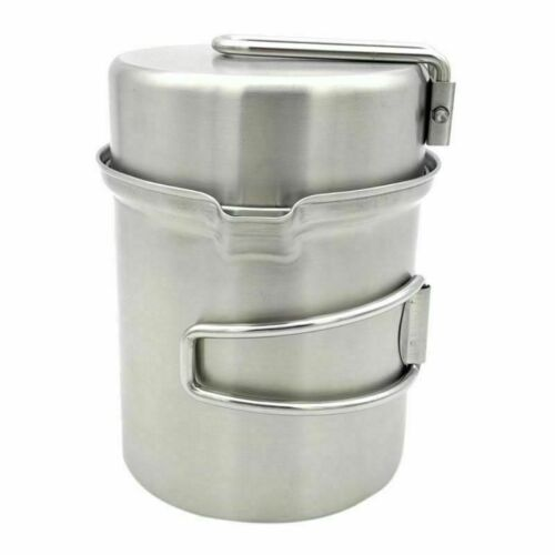 Camping Wood Stove Cooking Pot Set Portable Outdoor Picnic Cookware Bowl Durable