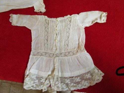 1920s Hand Made Doll Clothes Lace Shirt Rare Unique Beautiful