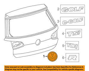 VW VOLKSWAGEN OEM Liftgate Tailgate Hatch-Emblem Badge Nameplate 5K0853675AJHCE
