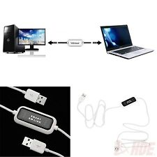 2 Port USB Keyboard Mouse KM Switch File Data Share Transfer Link Cable Adapter