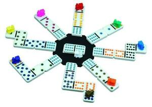New-Cardinal-Mexican-Train-Domino-Game-with-Aluminum-Case-Free-Shipping