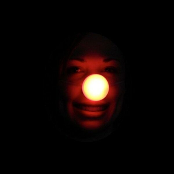 light up rudolph nose led flashing red blinking clown. Black Bedroom Furniture Sets. Home Design Ideas