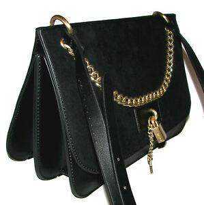 Details about ALDO Black Lock Purse Shoulder bag NWT