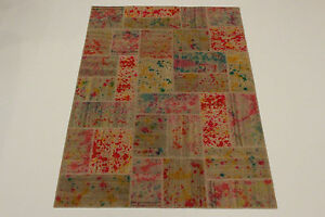nomades-PATCHWORK-COLLECTION-NEUF-COULEUR-PERSAN-TAPIS-d-039-Orient-2-42-x-1-73