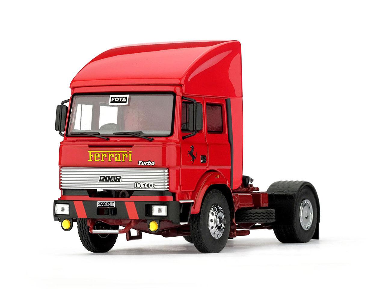 _T05 - Brumm Fiat Iveco 190 - röta - Scuderia Ferrari - 1982 - 1 43