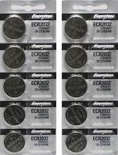 10 FRESH Genuine Energizer CR2032 ECR2032 3V Coin Button Batteries