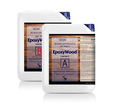 Sezione Speciale Epoxywood 7.5 Kg Resina Epossidica Per Legno - Rivestimento Protettivo, Restauro Aspetto Elegante