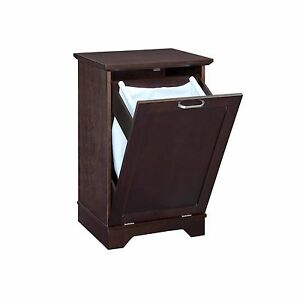 Wood Laundry Hamper Cabinet Bathroom Furniture Clothes