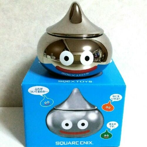 Dragon Quest small bowl with a lid  Smile Metal Slime for fans of DQ ceramics