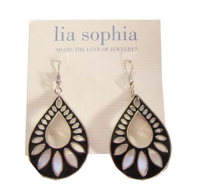 Lia Sophia Jewelry Shadow Silver Earrings