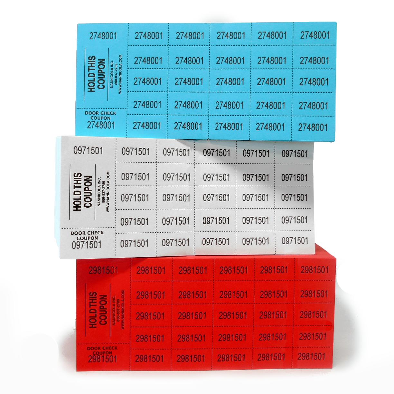 Vente billets - 1500 feuilles-Rouge, Blanc, Bleu