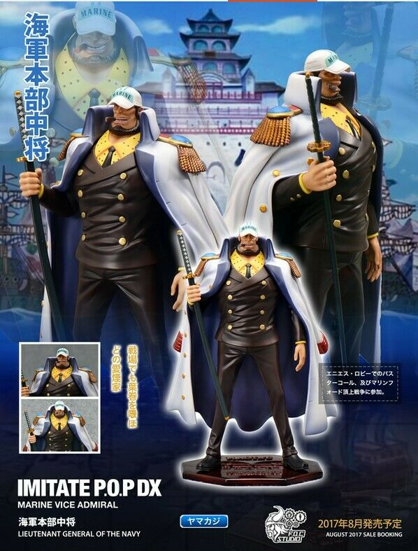 F.O.C Studio One piece Vice Admiral Yamakaji Marine Lieutenant POP Resin Statue