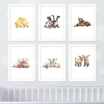 Twin Safari Nursery Print Set of 4Twin Baby Shower Christening Gift Unframed