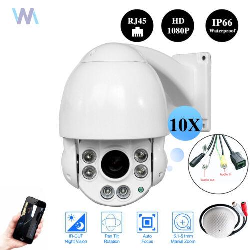 "4.5/"" POE 1080p HD Onvif Network Outdoor 2MP 10X Mini PTZ Camera IP Speed Dome"