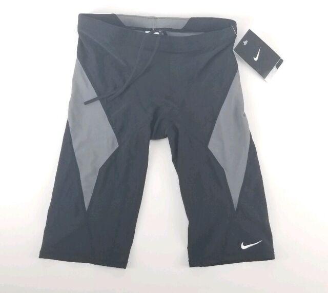 servidor níquel intermitente  $52 Nike NX Victory Black / Grey Block Jammer Swim Wear Medium 30 for sale  online
