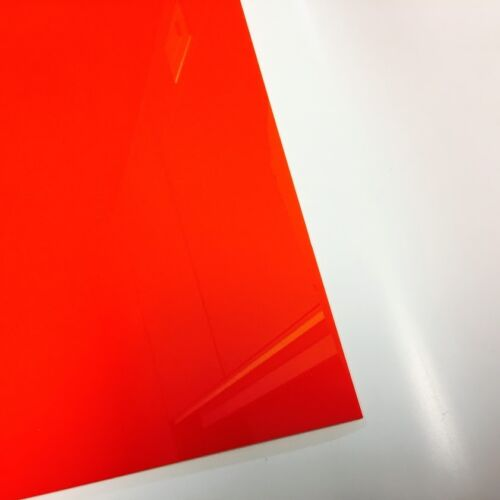 "Candy Orange Red Translucent Acrylic Plexiglass sheet 1//8/"" x 24/"" x 24/"" #2662"