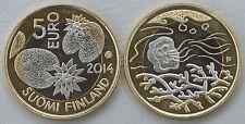 """5 Euro Finnland 2014 """"Nordische Natur - Wasser"""" unz."""