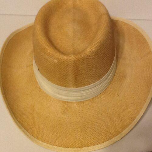 8 of 9 Vintage Dobbs Hat Dobbs Shantung Panama Straw Fedora Hat Sz 6-7 8 e6a1d5874b00