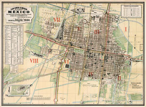 Historic-1886-Map-General-Plan-of-Administrative-Divisions-of-Mexico-City-Poster