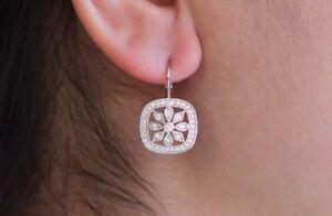 Art-Deco-Halo-Dangle-Earrings-1ct-Round-Cut-VVS1D-Diamond-14k-White-Gold-Finish
