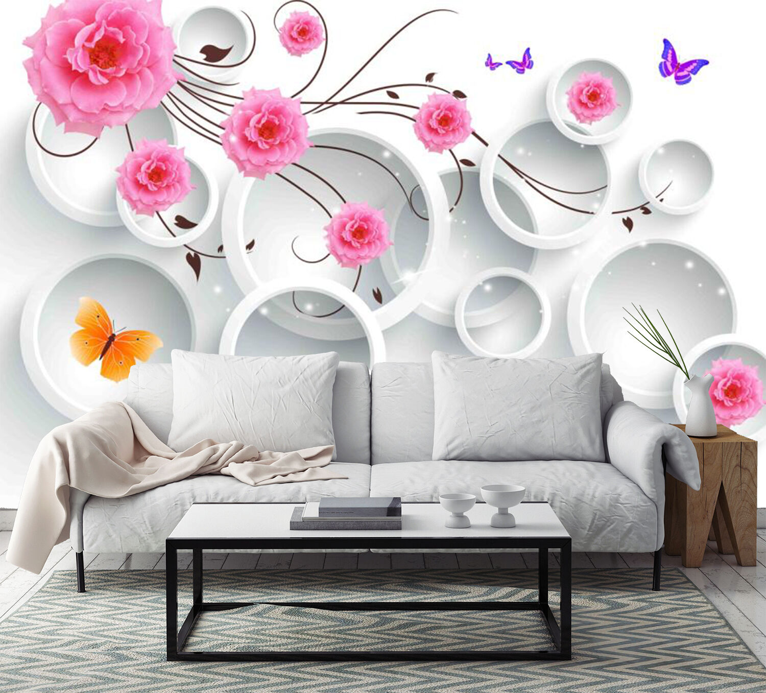3D Flying Flowers Vines 2552 Paper Wall Print Wall Decal Wall Deco Indoor Murals