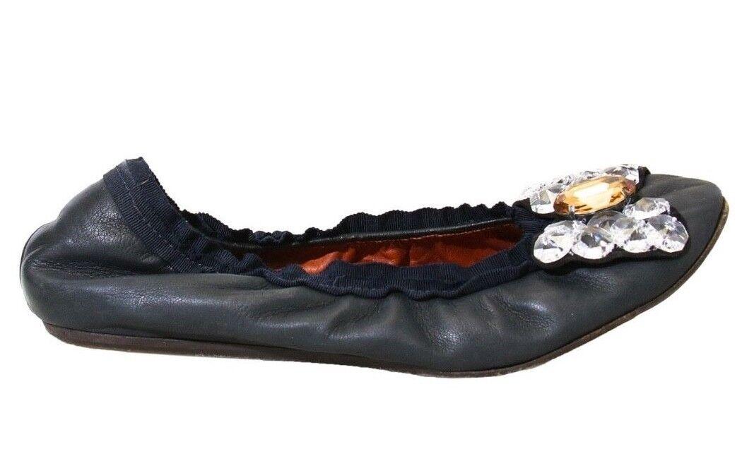 LANVIN Embellished Ballerina Flats (Dimensione 9.5)