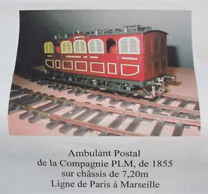 Fourgon Postal Plm 1855 Petits Trains De France échelle O