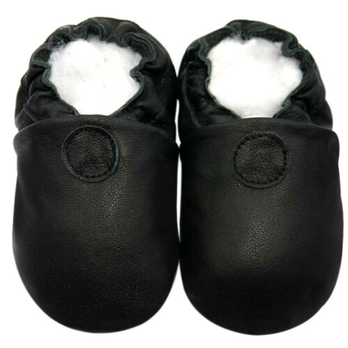 Soft Sole Leather Baby Infant ClassicBlack Shoes 12-18M Littleoneshoes Jinwood