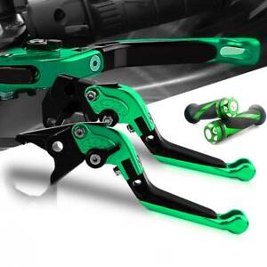 For-Kawasaki-Pivot-Brake-Clutch-Levers-and-Moto-Grip-For-Ninja-ZX6R-2007-2015-GN